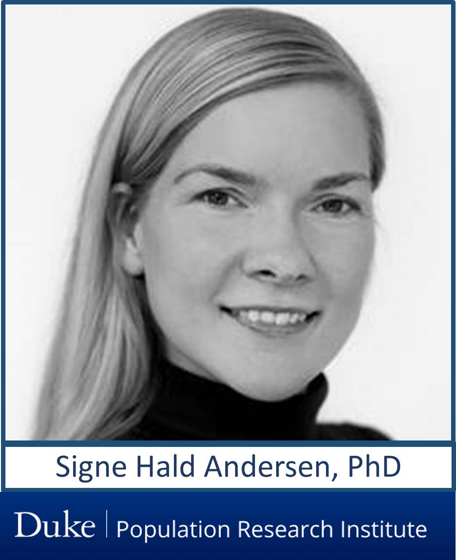 DUPRI's Terrie Moffit co-hosts Danish Sociologist Signe Hald Andersen lecture September 17.